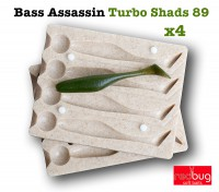 Bass Assassin Turbo Shads 89 x4 (реплика)