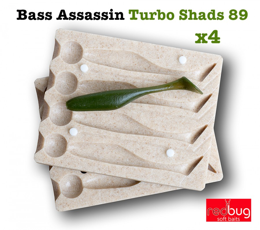 Bass Assassin Turbo Shads 89 x4 (реплика)