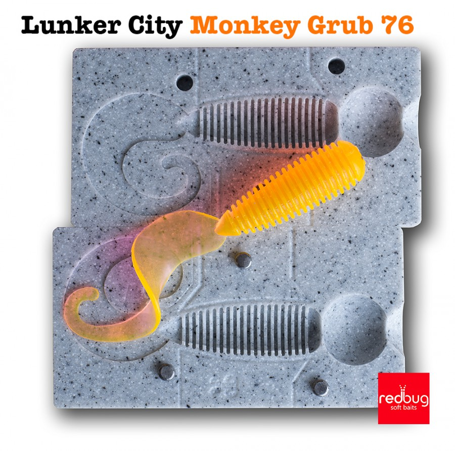 Lunker City Monkey Grub 76 (реплика)