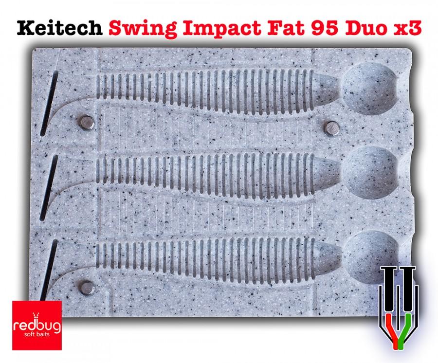 Keitech Swing Impact Fat 95 Duo x3 (реплика)