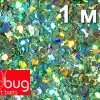 Блестки Светло-зеленая Голография 1 мм