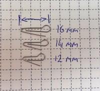 Скрепка под Чебурашку 12мм (D 0.5) - 50шт