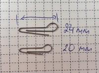 Скрепка под Чебурашку 20мм (D 0.7) - 50шт