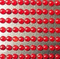 Глазки для вклейки - Жемчужные красные (диаметр 3 мм)