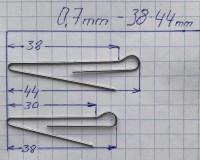 Скрепка под Чебурашку 38 мм (D 0.7) - 50шт