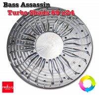 Bass Assassin Turbo Shads 89 x24 Алюминий