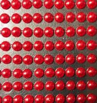 Глазки для вклейки - Жемчужные красные (диаметр 5мм)
